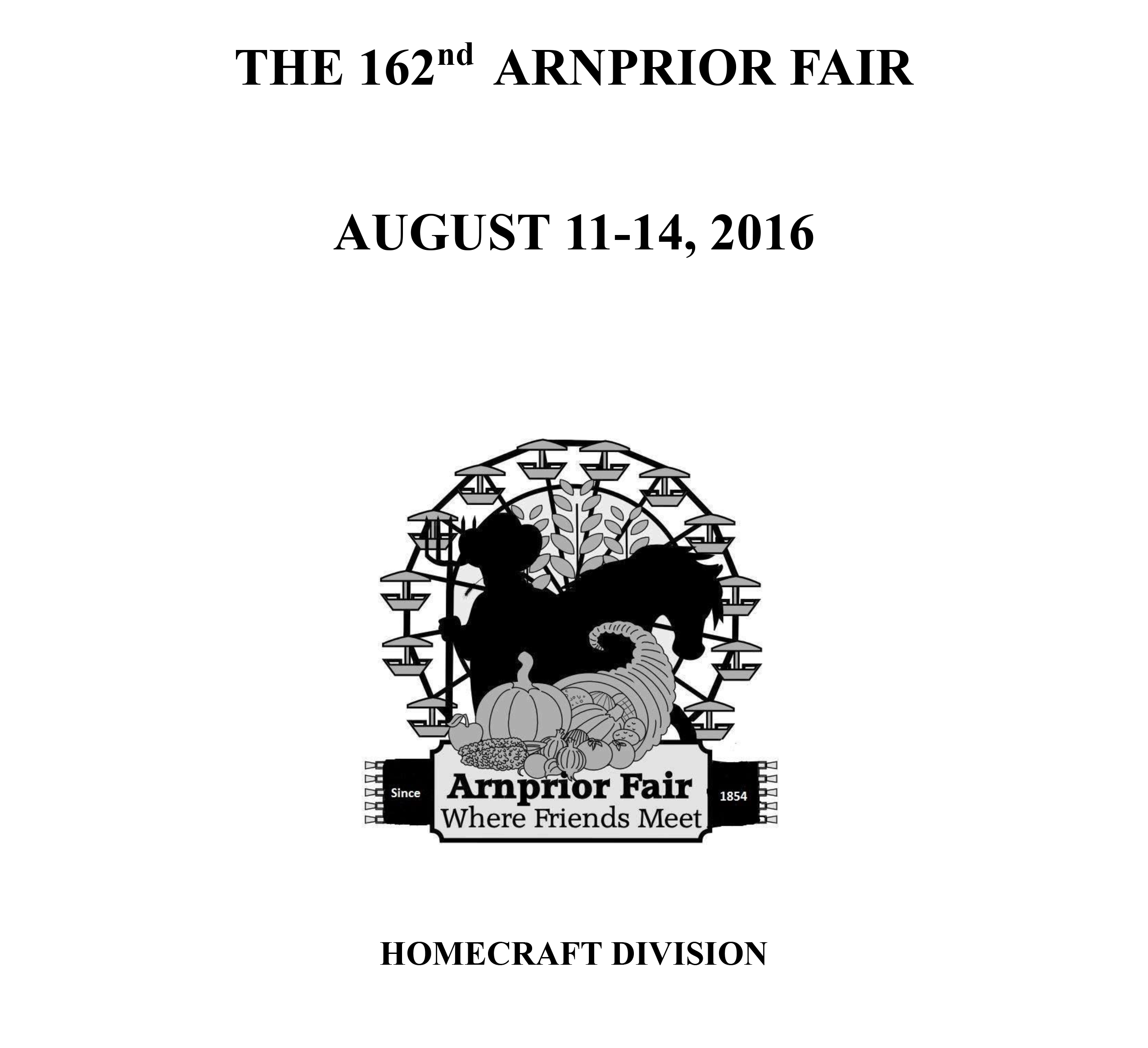 THE 161ST ARNPRIOR FAIR